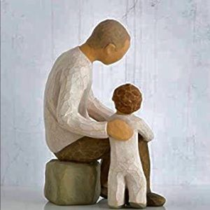 Grandfather by Willow Tree